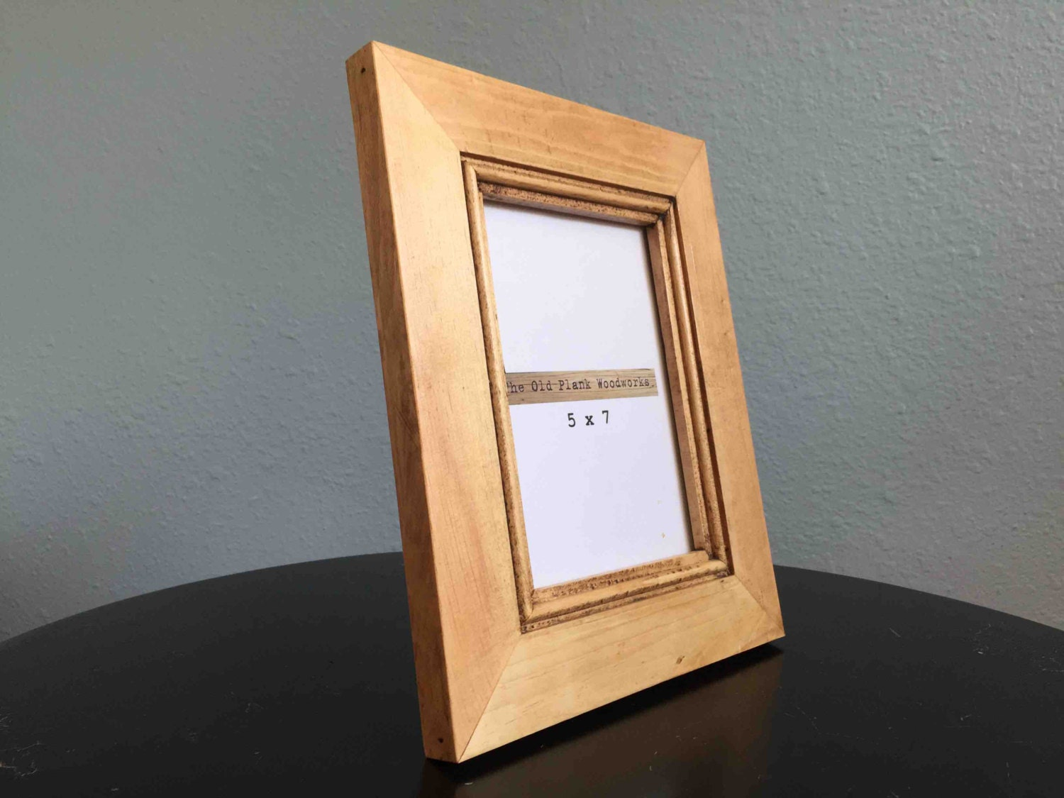 rustic pine picture frame holds 5 x 7 made from reclaimed. Black Bedroom Furniture Sets. Home Design Ideas