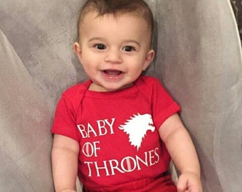 House Stark - Baby of Thrones, Games of Thrones, Funny Baby Clothing, Games of Thrones Baby Bodysuit #7