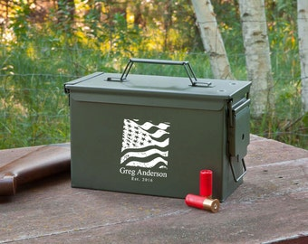 Groomsmen Ammo Box - Personalized Ammo Box - Personalized Ammunition Box - Gifts for Him - Groomsmen Gifts - Gifts for Dad - GC1409