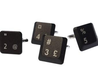 Keyboard ring: Custom letter/nr Pc Black - Ring