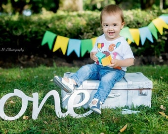 Birthday photo prop script wooden sign ONE, First Birthday wooden sign ONE, photo prop  one, number one, Wooden Number, word one  for photos