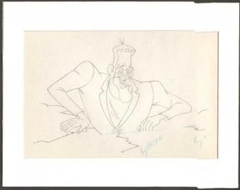 1970-71 Groovie Goolies Frank original production cel drawing Filmation