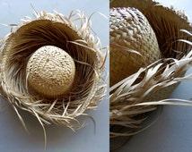 grass hat \ tropical hat \ basket weave