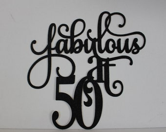 50th birthday decorations - Black - 50th birthday sign - 50th decoration sign #1072