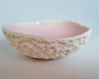 Small Textured Pink Bowl