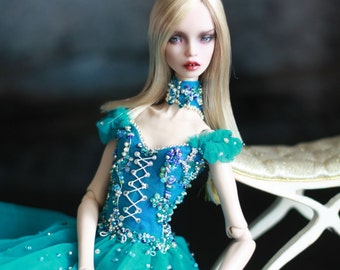 Silk dress for Popovy dolls BJD. Custom colors available