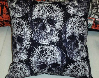 "13"" Skulls & Pins pillow"