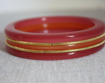 Bakelite Butterscotch and apricot bangle