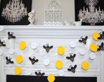 Bumble bee, Mommy to Bee Bumble Bee Baby Shower Decorations , Bumble Bee Birthday Decor,  Bumble Bee garland, bee nursery decor, Bee banner