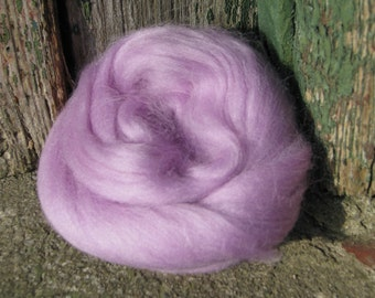 Merino Wool Roving/top 64's 23 Microns - LAVENDER. For Spinning,Wet or Needle Felting, Craft Work.