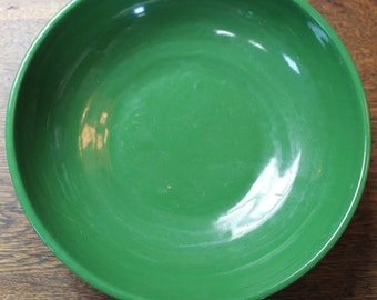 1960's Green Pottery Bowl