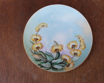 C. 1903 Tirschenreuth Porcelain Factory Bavaria Hand Painted Artist Signed Plate