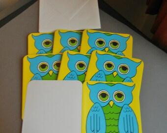 Vintage Owl Greeting Cards, Vintage Owl Cards, Vintage Blank Owl Cards, Owl Greeting Cards, Blank Owl Cards, Owl Cards,