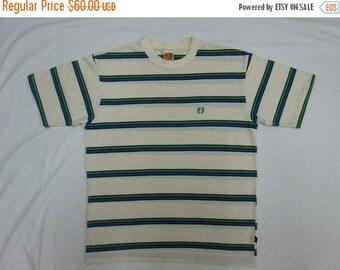 SALE 25% Vintage Hang Ten Made in USA Skate Surf Surfur Hip Hop Stripe T Shirt Rare