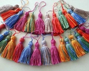 Tassel, 10 PCS, CottonTassels, Morocco Style TasselBatik, Blanket Tassels, Batik Tassels