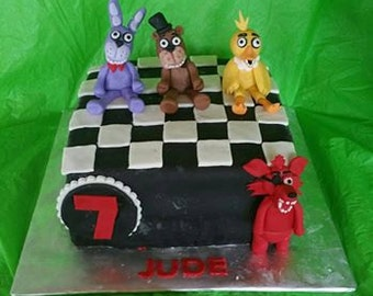 5 Nights at Freddys Cake Toppers