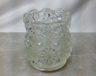 Vintage Lenox Candles Inc Clear Cut Pressed Glass Votive Tealight Candle Holder
