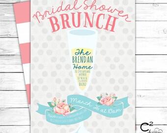 Bubbly Bridal Shower Brunch Invitation