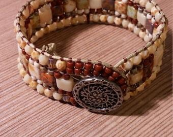 Beaded Wrap Cuff Bracelet