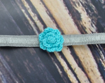 Blue- Headband- Grey- Baby