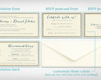Wedding Invitations: Heather + Daniel