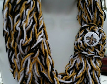 Saints SALE, Saints infinity Scarf, New Orleans Saints Scarves, New Orleans Saints, Womens Saints, Saints Scarves, New Orleans Saints SALE