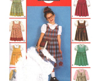 McCalls Sewing Pattern 2930 Girl's Jumper, Blouse  Size:  CD  2-3-4  Uncut