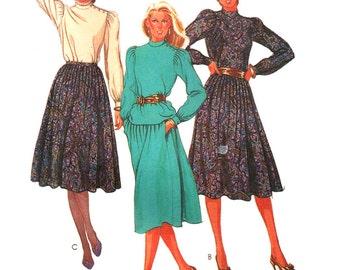 McCalls Sewing Pattern 7766 Misses' Blouse, Skirt  Size:  12  Bust 34  Uncut