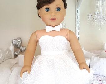 18 inch doll lace skater skirt | white or black