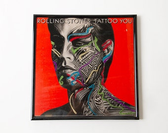 """The Rolling Stones """"Tattoo You"""" Glitter Album FRAMED"""
