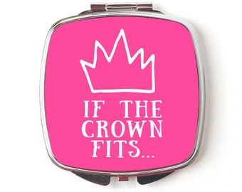 Princess Compact Mirror - Disney Princess Gift - Compact Mirror - Queen Pink Crown