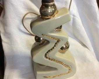Retro Vintage Ceramic/Cream / Gold/ Lamp