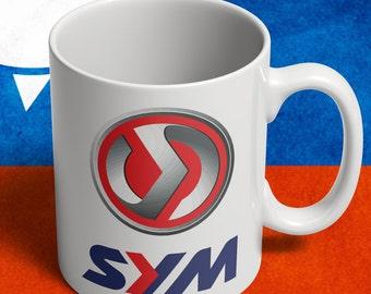 SYM scooter mug