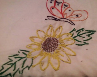 Sunflower and Butterfly Pillowcase set of 2