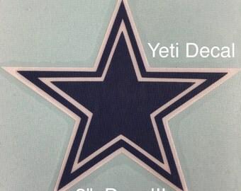Cowboys Decal, Yeti Decal, Tumbler Decal