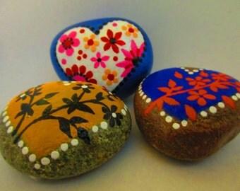 Painted Rocks - HEARTS