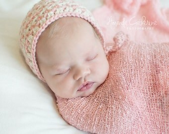Zig Zag Newborn Bonnet - Photography Prop