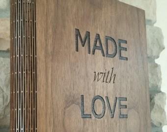 Living Hinge Wood Customized Binder