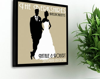 "Personalized Couples Studio Canvas Sign  -  Personalized Wedding Canvas Sign  - 14"" x 24"" -  GC897"