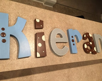 Nursery wall decor, nursery letters, nursery letters, baby boy nursery letters, nursery wall letters, nursery decor