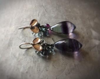 Super Unique Fluorite Drop Earrings