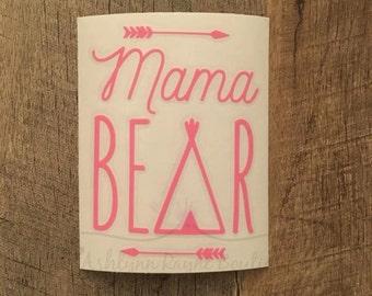 Decal- Mama Bear- Car Decal- Mama Bear Decal- Yeti