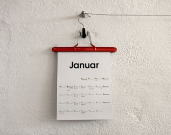 Hanging Calender on a clip – Typo 2017