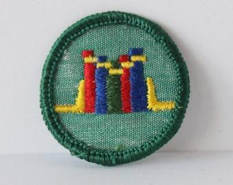 Vintage Girl Scout Merit Badge - Books - librarian library booklover reader