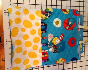 Small Dr. Seuss crayon activity bag