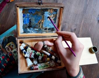 artist paint box (Size 15x20 cm)