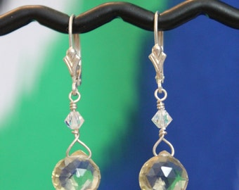 Lemon Quartz & Sterling Silver Earrings