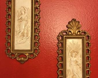 Angel wall plaques