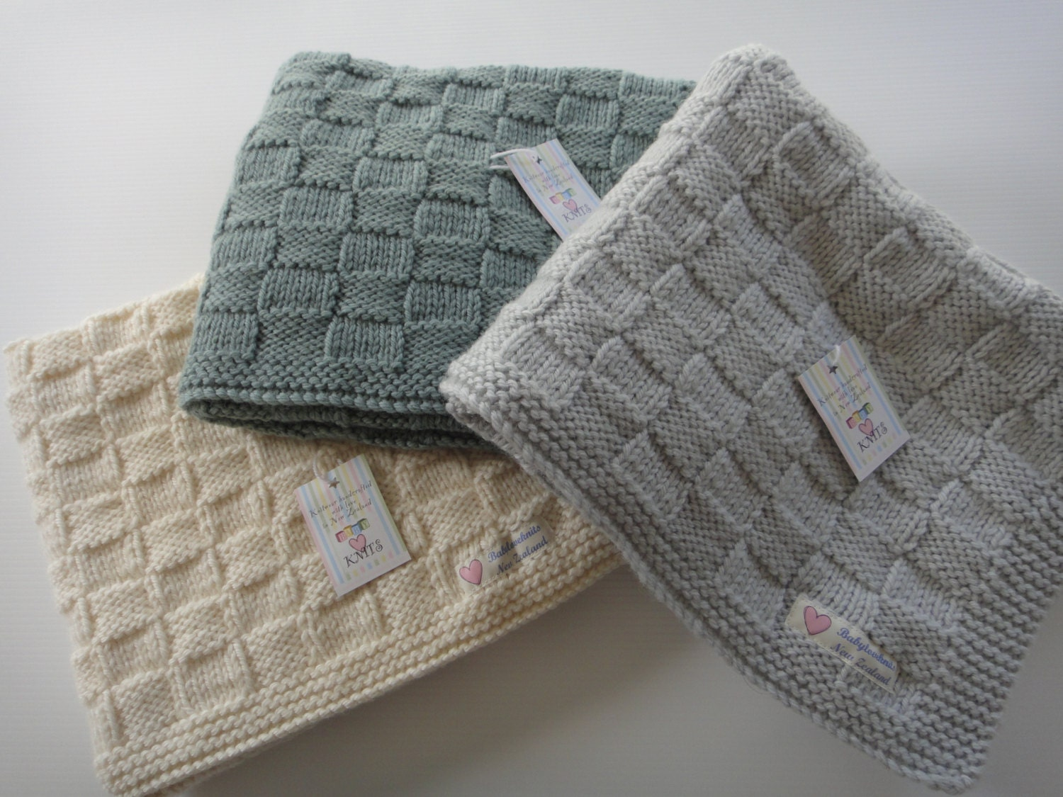 Baby Blanket Hand Knit Hand Knitted Cot Blanket Baby