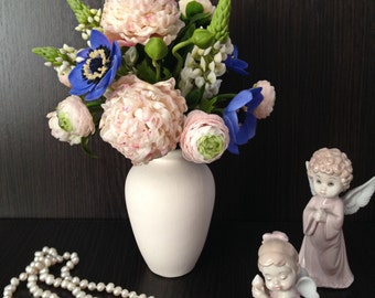 Handmade Alternative Wedding bouquet Natural Real Touch Peonies Decorative Flowers interior composition decor handmadebridal accessories